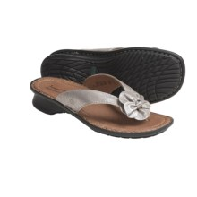 Josef Seibel Pearl Thong Sandals (For Women) in Platinum Metallic - Closeouts