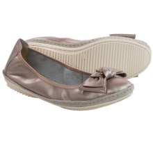 Josef Seibel Pippa 01 Ballet Flats - Leather (For Women) in Silver Calf - Closeouts