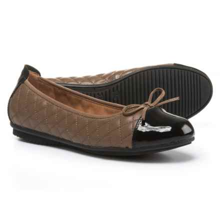 Josef Seibel Pippa 25 Ballet Flats - Leather (For Women) in Taupe/Black Calf/Lack - Closeouts