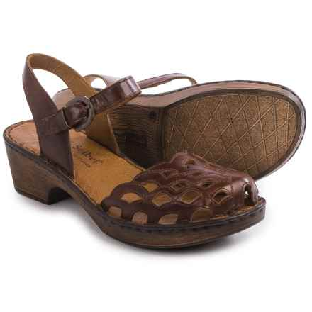 Josef Seibel Rebecca 17 Sandals - Leather (For Women) in Marone - Closeouts