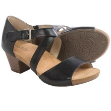 Josef Seibel Ruth 13 Sandals - Leather (For Women) in Black - Closeouts