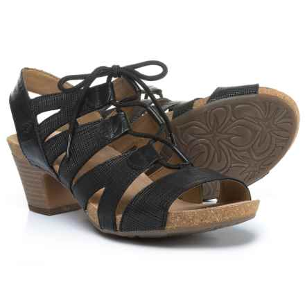 Josef Seibel Ruth 29 Sandals (For Women) in Black Pisa/Brown - Closeouts
