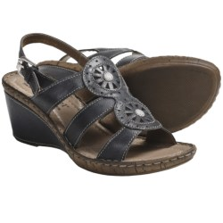 Josef Seibel Salma 08 Sandals - Leather, Wedge Heel (For Women) in Truffle