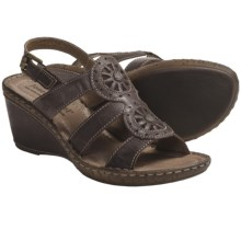 Josef Seibel Salma 08 Sandals - Leather, Wedge Heel (For Women) in Espresso - Closeouts