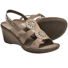 Josef Seibel Salma 08 Sandals - Leather, Wedge Heel (For Women) in Truffle - Closeouts