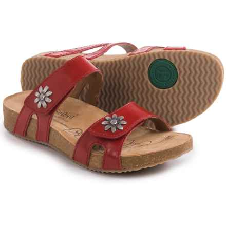 Josef Seibel Tonga 04 Leather Sandals (For Women) in Red - Closeouts