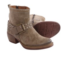 Josef Seibel Toni 09 Ankle Boots - Suede (For Women) in Taupe Shiny Suede - Closeouts