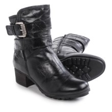 Josef Seibel Tracy 05 Leather Boots (For Women) in Black - Closeouts