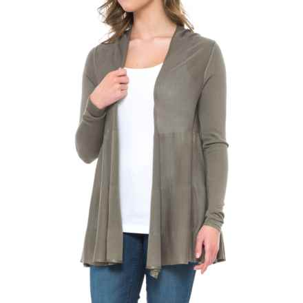 Joseph A. Open-Front Cardigan Sweater (For Women) in Tumbleweed - Overstock