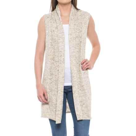 Joseph A. Slub Heather Sweater Vest (For Women) in Oatmeal Combo - Overstock