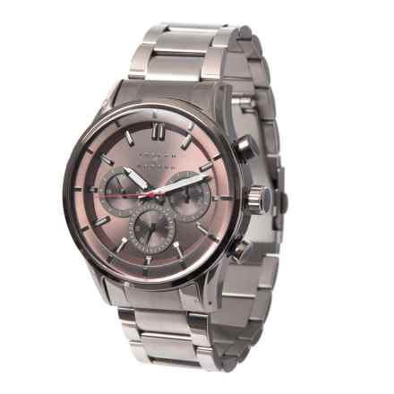 Joseph Abboud Chronograph Watch - Metal Bracelet (For Men) in Grey/Grey - Closeouts