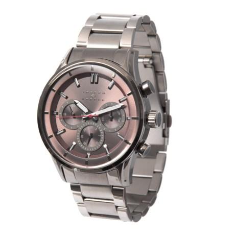 Joseph Abboud Chronograph Watch Metal Bracelet For Men In Grey