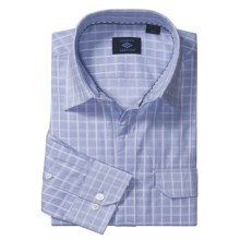 Joseph Abboud Cotton Sport Shirt - Long Roll-Up Sleeve (For Men) in Air Blue - Closeouts
