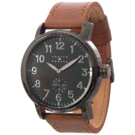Joseph Abboud Field Dial Watch - Leather Strap (For Men) in Brown/Green - Closeouts