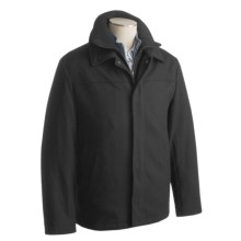 Joseph Abboud Fontana Car Coat (For Men) in Black - Closeouts