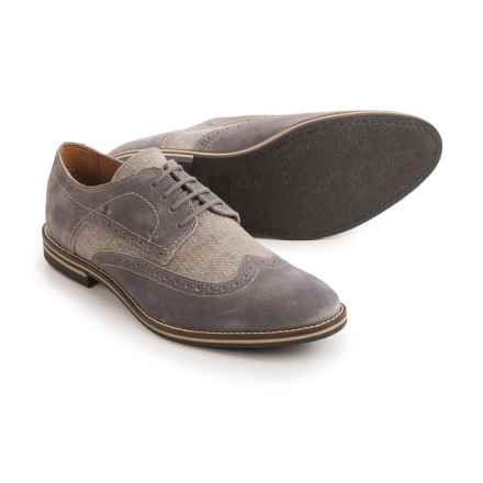Joseph Abboud Hewitt Wingtip Shoes - Suede (For Men) in Grey - Closeouts