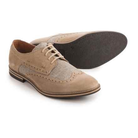 Joseph Abboud Hewitt Wingtip Shoes - Suede (For Men) in Tan - Closeouts