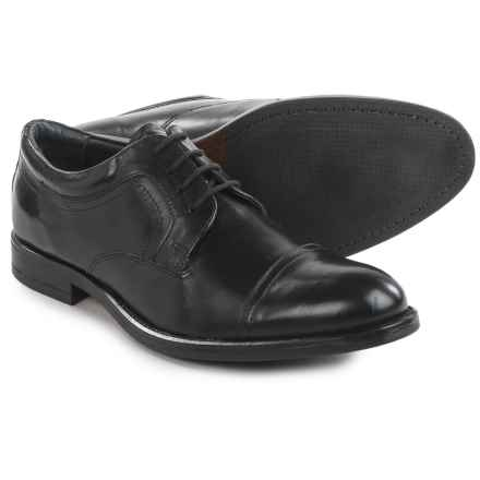 Joseph Abboud Major Cap-Toe Oxford Shoes - Leather (For Men) in Black - Closeouts
