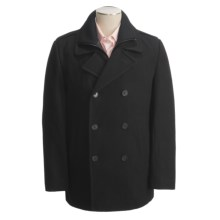 Joseph Abboud Portola Pea Coat - Wool, Inner Bib (For Men) in Black - Closeouts