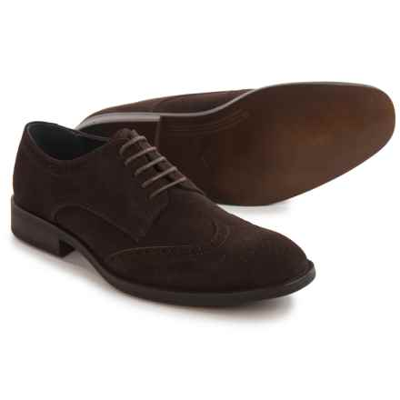 Joseph Abboud Ralph Oxford Shoes - Suede (For Men) in Chocolate - Closeouts
