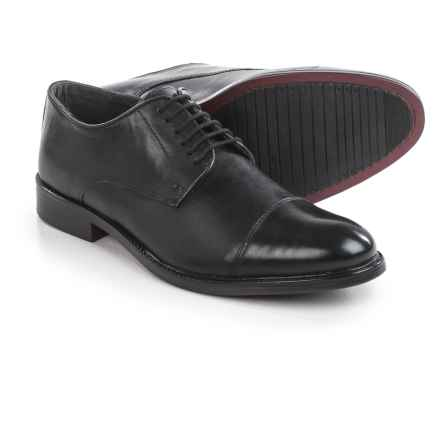 Joseph Abboud Rosen Cap-Toe Oxford Shoes - Leather (For Men) in Black - Closeouts