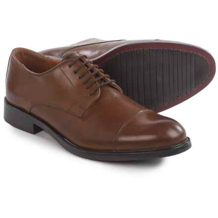 Joseph Abboud Rosen Cap-Toe Oxford Shoes - Leather (For Men) in Tan - Closeouts