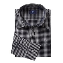 Joseph Abboud Small Check Sport Shirt - Long Sleeve (For Men) in Black - Closeouts