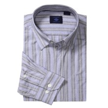 Joseph Abboud Stripe Sport Shirt - Cotton, Long Sleeve (For Men) in Silver Grey - Closeouts