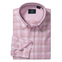 Joseph Abboud Tonal Check Sport Shirt - Cotton, Long Sleeve (For Men) in Pink - Closeouts