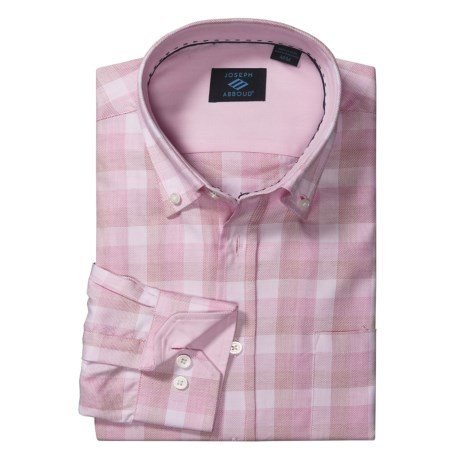 Joseph Abboud Tonal Check Sport Shirt - Cotton, Long Sleeve (For Men) in Pink