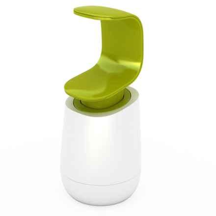 Joseph Joseph C-Pump Soap Dispenser in White/Green - Closeouts
