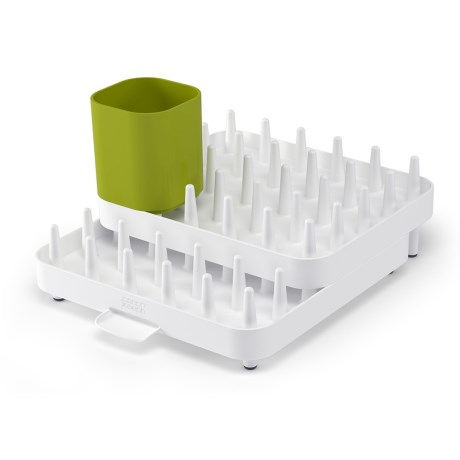 Joseph Joseph Connect Adjustable Dish Rack - 3-Piece Set in White/Green