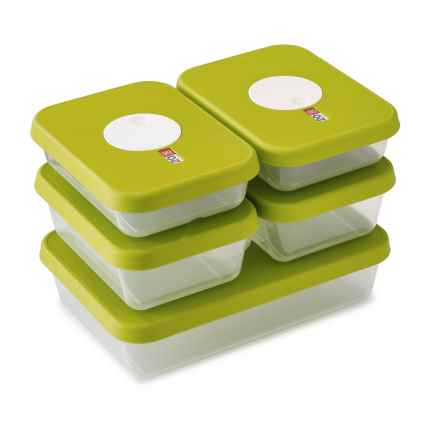 Joseph Joseph Dial Food Storage Containers - 5-Piece Set in Green - Closeouts