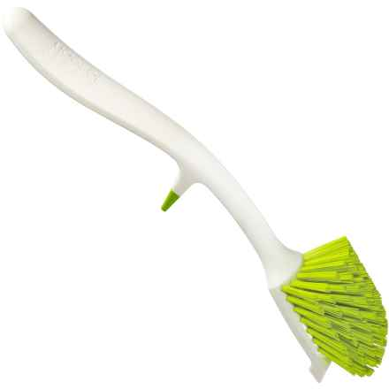 Joseph Joseph Edge Dish Brush in White/Green - Closeouts