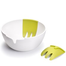 Joseph Joseph Hands-On Salad Bowl and Servers in White - Overstock