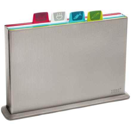 Joseph Joseph Index Cutting Board Set in Silver - Overstock