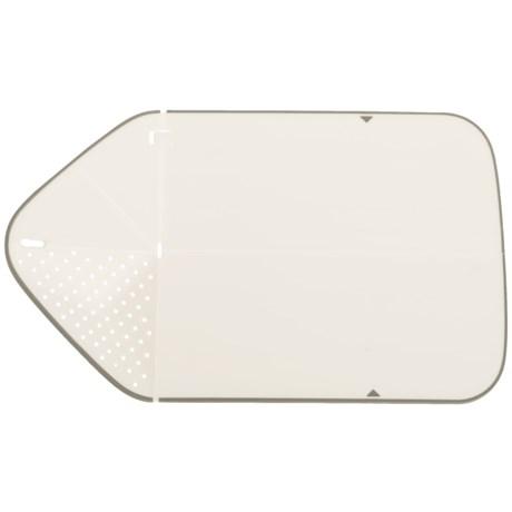 Joseph Joseph Rinse and Chop Plus Cutting Board in White