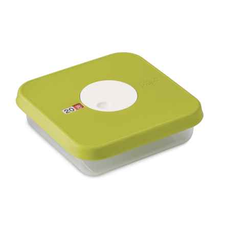 Joseph Joseph Square Food Storage Container with Datable Lid - 30.4 oz. in Green - Closeouts