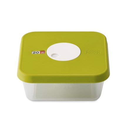 Joseph Joseph Square Food Storage Container with Datable Lid - 40.6 oz. in Green