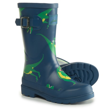 Joules Dazzling Dino Rain Boots - Waterproof (For Little and Big Boys) in Blue