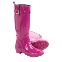 Joules Field Welly Glossy Rain Boots - Waterproof (For Women) in Ruby - 2nds