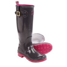 Joules Field Welly Glossy Rain Boots - Waterproof (For Women) in Slate - 2nds