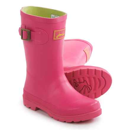 Joules Field Welly Rain Boots - Waterproof (For Little and Big Girls) in Neon Candy - Closeouts