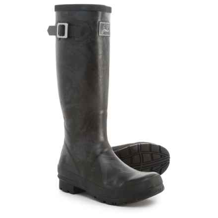 Joules Field Welly Rain Boots - Waterproof (For Women) in Black/Gray - 2nds