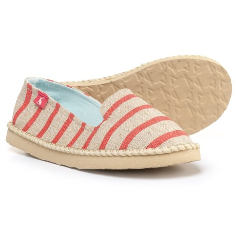 Joules Hope Stripe Canvas Shoes - Slip-Ons (For Girls) in Pink