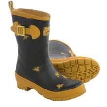 Joules Molly Welly Rain Boots - Waterproof (For Women) in Bees Black - 2nds