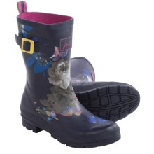 Joules Molly Welly Rain Boots - Waterproof (For Women) in Navy Floral - 2nds