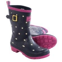 Joules Molly Welly Spot Rain Boots - Waterproof (For Women) in Navy Spot - 2nds
