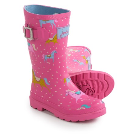 Joules Pony Rain Boots - Waterproof (For Little and Big Girls) in Pink