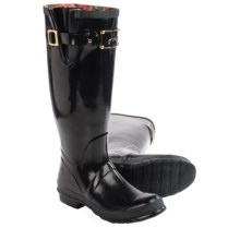 Joules Posh Welly Rain Boots - Waterproof (For Women) in Black Gloss - Closeouts